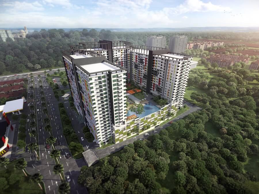 Residensi Suasana @ Damai – Kediaman apartmen servis berdekatan MRT 2