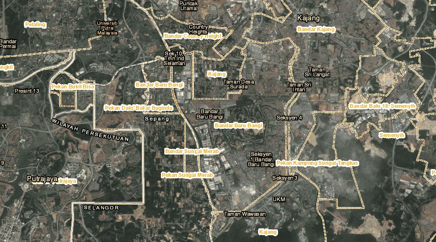 Bandar Baru Bangi (Map)